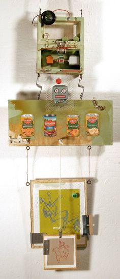 """Saatchi Art Artist Aaron Epstein; Collage, """"The Duality of the Package"""" #art"""