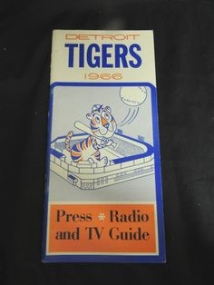 Vintage Media Book Press Guide Roster Radio Detroit Tigers 1966 MLB Baseball