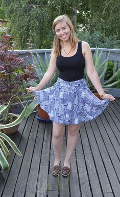 A-line skirt-and-shorts in one! Culottes - skort.
