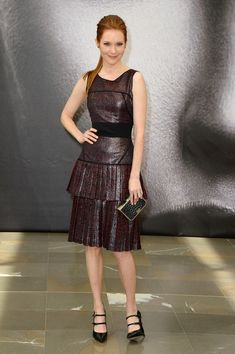 Darby Stanchfield Leather Dress