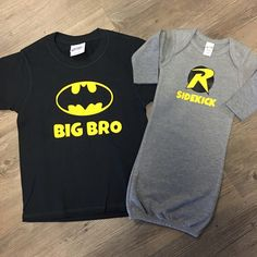 Create a special super hero set for your new little one and his big brother! We can do any design to let them know they'll be the best big brother in town!