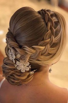 Vintage Wedding Hairstyles For Gorgeous Brides ★ See more: www. Vintage Wedding Hairstyles For Gorgeous Brides ★ See more: www. Vintage Wedding Hairstyles For Gorgeous Brides ★ See more: www. Quince Hairstyles, Wedding Hairstyles For Long Hair, Bride Hairstyles, Vintage Hairstyles, Gorgeous Hairstyles, Hairstyles Pictures, Hairstyle Wedding, Fashion Hairstyles, Simple Hairstyles