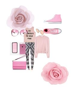 """""""Mean Girls( pink on Wednesday)"""" by itsgracie18 ❤ liked on Polyvore featuring Fifth Sun, Acne Studios, Accessorize, Tom Ford, Wildflower, Kate Spade and Converse"""