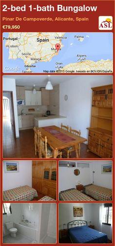 2-bed 1-bath Bungalow in Pinar De Campoverde, Alicante, Spain ►€79,950 #PropertyForSaleInSpain