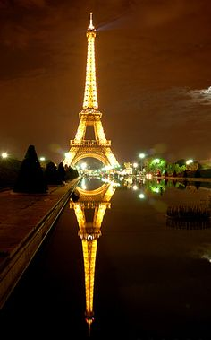 Paris Eiffel Tower Mirror Hermoso lugar soñado por mi