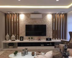 for lounges tv wall I then get instant texture. Wallpaper is personal obviously I tend to go for architectural style wallpapers, or velvets or grass cloth papers that are rich in texture and add a new level of softness to my walls. Tv Cabinet Design, Tv Wall Design, House Design, Drawing Room Wall Design, Living Room Tv Unit Designs, Home Design Living Room, Tv Wanddekor, Modern Tv Wall Units, Cozy Family Rooms