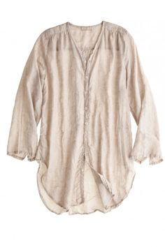 Dina Jacquard Shirt in Oatmeal By CP SHADES | Calypso St. Barth
