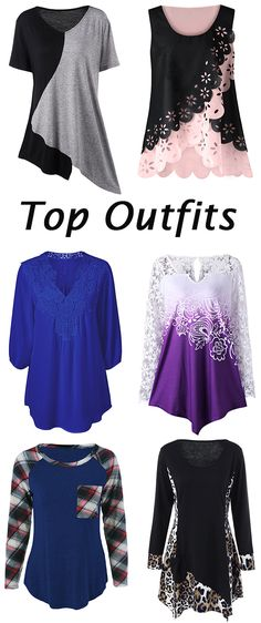 top outfits:Plus Size Tops