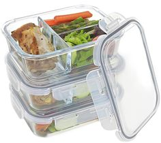 Pyrex Microwave DIVIDED Glass Storage Food Container