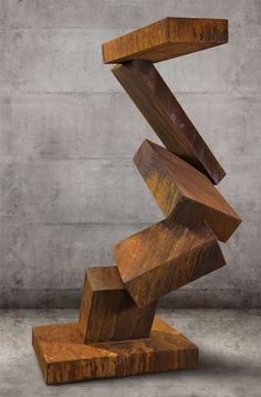 """The Runner, a monumental sculpture by Kevin Caron. 108"""" x 49"""" x 67"""" Oxidized steel $10,200"""