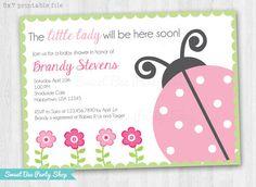 Hey, I found this really awesome Etsy listing at https://www.etsy.com/listing/174971369/lady-bug-ladybug-baby-shower-invitation