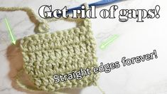 Do you ever have that pesky problem in crochet where your edges are never straight? Or maybe you have all those annoying little gaps on your edges and you just don't know what to do about it. In this video, I'll show you how to always get a straight edge on your crochet blankets and other projects!