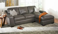 Looking for something different? Try this Simon Li leather sectional at Haynes!