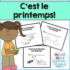 Simple spring mini books for French Immersion or Core French students! Get your students reading in French! French Learning Books, Teaching French, Teaching Writing, Teaching Jobs, Teaching Ideas, Read In French, Learn French, French Kids, English Classroom