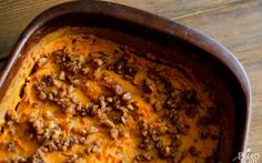 Paleo sweet potato casserole by Paleo Leap. This is a meal in and of itself!