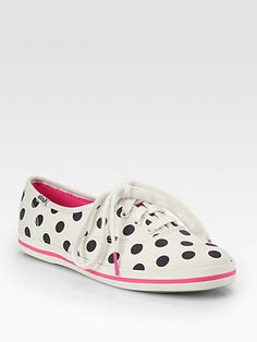 Kate Spade New York - Kick Polka Dot Canvas Lace-Up Sneakers - Saks.com