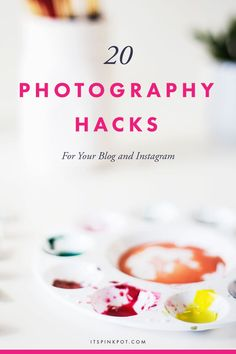 Here are 20 efficient photography hacks for your blog and business photos! This…