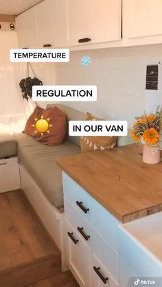 Van Conversion Interior, Camper Van Conversion Diy, Van Interior, Bus Living, Tiny House Living, Diy Camper, Camper Life, Van Camping, Camping Hacks