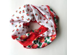 Red Floral Scarf / Bold Print Statement / by almondtreevintage, $12.00