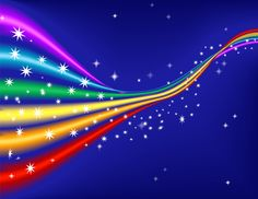 Rainbow with Stars powerpoint backgrounds templates