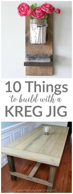 10 Kreg Jig Projects You Will Love (amazingly easy!) 10 Amazing Kreg Jig Projects - I need to bust out my kreg and make some DIY projects from these plans! Diy Craft Projects, Kreg Jig Projects, Easy Woodworking Projects, Popular Woodworking, Woodworking Plans, Woodworking Classes, Woodworking Inspiration, Kreg Jig Plans, Woodworking Articles