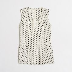 Factory printed sleeveless flounce top