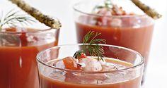 Opskrift på kold chili-tomatsuppe med hummerhaler
