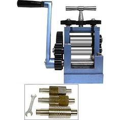 "3"" 80mm Rolling Mill & 5 Metal Rollers Jewelers Tool #FindingKing"