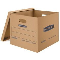 Bankers Box SmoothMove Classic Moving Boxes Tape-Free Assembly Easy Carry Handles Medium 18 x 15 x 14 Inches 10 Pack Cardboard Boxes For Moving, Moving Boxes, Moving Kit, Writing Area, Moving And Storage, Cardboard Packaging, Shipping Boxes, Storage Boxes, Office Storage