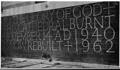 Ralph Beyer and inscriptional lettering: the grand tradition Coventry Cathedral, Painted Letters, Stone Carving, Letters And Numbers, It Cast, Neon Signs, Lettering, Traditional, Words