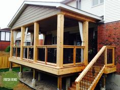 Norm and Suzanne's Deck in Barrhaven Rustic Deck, Cottage Exterior, Ottawa, Cabana, Shed, Backyard, Fresh, House Styles, Ideas