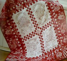 "Redwork with a Twist by Pat Sloan - review by ""we love french knots"" - I looove this book!"