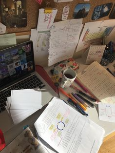 My desk during the deadly, the chaotic: exam week ladies and gents Study Corner, Study Board, Study Organization, Study Pictures, School Study Tips, Studyblr, Study Notes, Student Life, Study Motivation