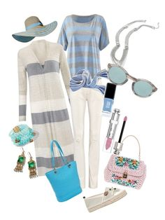 """""""Summer whites"""" by tracey-daugherty-staehle on Polyvore featuring CAbi, Miss KG, JINsoon, Dries Van Noten, Christian Dior, Dolce&Gabbana and Sun N' Sand"""