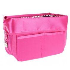 Pursfection Portable Purse Organizer w/12 Pockets & Zipper Closure (Pink / Leopard)
