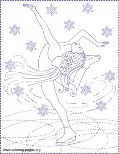 Free Coloring Pages: ICE PRINCESS * COLORING PAGES