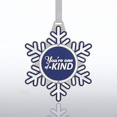 Shaped Spinner Ornament - Snowflake is the perfect holiday gift for your coworkers or employees!