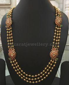Silver Metal Gold Polish Beads Long Sets