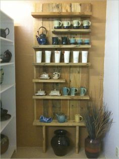 Furniture Idea , 6 DIY Wood Pallet Project – Reclaimed Wood : Wood Pallet Studio Shelves
