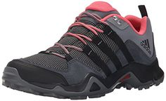 adidas Outdoor Women's Brushwood Mesh Hiking Shoe, Dark Grey/Black/Super Blush, 8 M US *** Read more reviews of the product by visiting the link on the image.