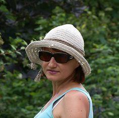 Ľanový dierkovaný klobúk
