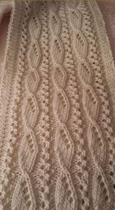 A gorgeous textured ivory scarf for the discerning woman. by on Etsy Easy Knitting Patterns, Sewing Stitches, Lace Patterns, Knitting Designs, Stitch Patterns, Crochet Patterns, Knitting Daily, Baby Knitting, Knit Vest Pattern