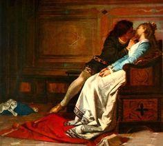 """""""Il Bacio"""" di Amos Cassoli del 1870 rappresenta il bacio furtivo tra Paolo e Francesca, i due amanti condannati all'inferno da Dante."""