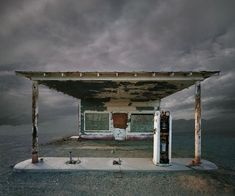 photo-manipulated abandoned building by Ed Freeman