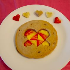 pancakes with fruit #valentines #heart WIN a Funbites so you can make it at home! #giveaway