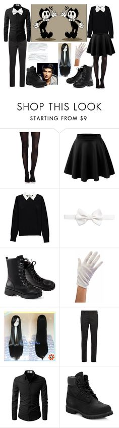 """Bendy and the ink machine"" by fantasy2fiction ❤ liked on Polyvore featuring SPANX, Essentiel, Armani Collezioni, Prada, Timberland and Brooks Brothers"