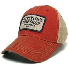 McKevlin's - Youth 65 Patch Trucker Hat - Scarlet Red
