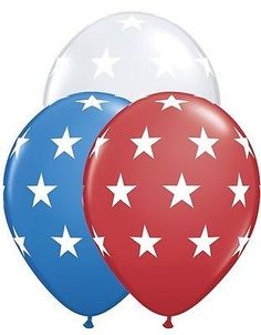 "5-20pc 11"" Patriotic Stars Latex Balloons Veterans Day Flag Memorial 4th of July"