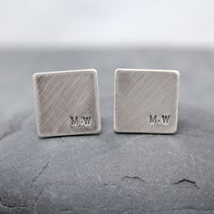 SPACE initial Cufflinks, Cuff links for men. $94.00, via Etsy.