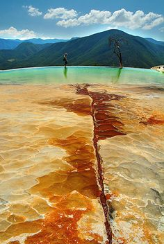 Mineral Springs of Hierve el Agua - Oaxaca, Mexico Ive been here before and its an amazing view!
